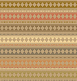 Abstract ethnic texture seamless fabric pattern vector image