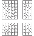four white puzzles vector image