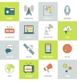 Media Icons Line Flat vector image