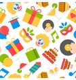 party colorful seamless pattern vector image