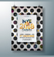 2018 new year party celebration poster template vector image vector image