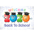 2020 back to school character 3d white bg vector image vector image