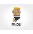 abstract mama chef logo template vector image vector image