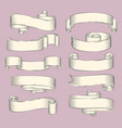 antique papyrus ribbons or old curled scrolls vector image