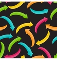 Arrow Icon Sign Seamless Pattern Background for vector image vector image