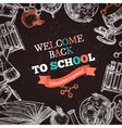 Back To School Education Poster vector image