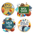 back to school education stationery posters vector image