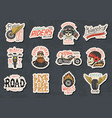 biker club stickers templates vintage custom vector image vector image