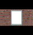 brick wall with window vector image