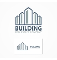 building icon or logo vector image vector image