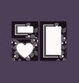 cards with elegant frame and floral decoration vector image vector image