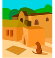 cat in the sun vector image vector image