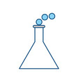 chemistry flask isolated vector image vector image