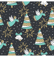Christmas seamless pattern background vector image vector image