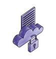 cloud computing storage data security vector image vector image