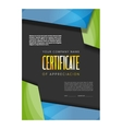 Color certificate design vector image