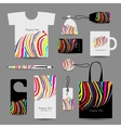 Corporate business cards colorful zebra print vector image vector image