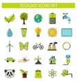 Ecology icons set in cartoon style vector image