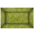 empty futuristic room with green walls vector image vector image