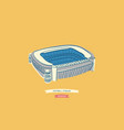 famous spanish football stadium located in madrid vector image vector image
