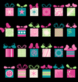 Festive gifts and bows vector image