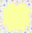 Frame from flowers of apple vector image