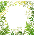 frame with leaves floral set with hand vector image vector image