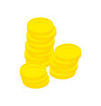 gold coins isolated stack of money on white vector image vector image