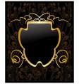 gold decorative frame on floral background vector image vector image