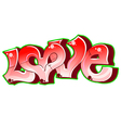 Graffiti urban art Love vector image vector image