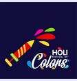 happy holi festival holi blue background with vector image vector image