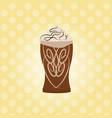 ice cream chocolate dessert over white background vector image vector image