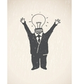 Idea Lamp Head Businessman vector image vector image