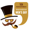 international men day concept background cartoon vector image