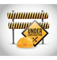 Isolated under construction design design vector image vector image