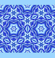 kaleidoscope blue star flower background vector image vector image
