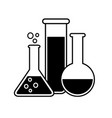 laboratory glass icon glassware equipment vector image
