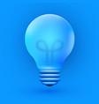 light bulb creative idea and innovation vector image