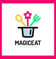 magic eat logo vector image vector image