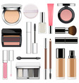 makeup icons set 2 vector image vector image