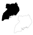 map uganda isolated black on vector image vector image