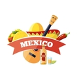 Mexican logo and badge design vector image vector image