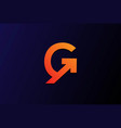 modern initial letter g for grow growth up logo vector image