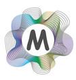 monogram color frame logo design abstract vector image