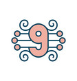 number 9 sign vector image