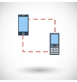 Phone sync single icon vector image vector image
