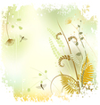 Plant background - The meadow in summer time vector image vector image