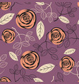 seamless floral pattern on purple background vector image vector image