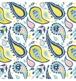 Seamless Paisley pattern in a white background vector image