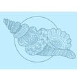 Seashell hand drawn vector image vector image